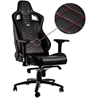 noblechairs EPIC Gaming Chair - Black/Red with Vegan Friendly PU Leather, 2 Year Warranty, Up to 180KG Users, Perfect for an Executive Office Chair, Racing Seat Design