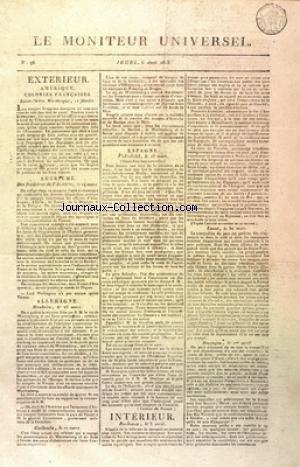 MONITEUR UNIVERSEL (LE) [No 96] du 06/04/1815