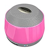 AZATOM � Droid - Powerful Bluetooth 4.0 Speaker - Dual 5W driver and Woofer - Deep Powerful Bass - Designed In the UK - Auto reconnect - 16 Hours of Music - Quick charge battery - Pink