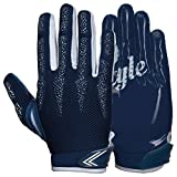 Best Football Gloves For Receivers - PROSTYLE Arrow, Lightly Padded Football Receiver Gloves, navy Review