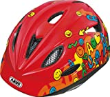 ABUS Kinder Fahrradhelm Rookie, Red, 46-52 cm, 48044