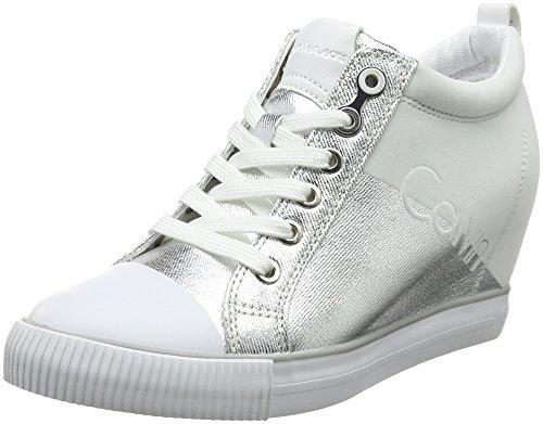 Bild von Calvin Klein Jeans Damen Rory Metal Canvas/Flocking Hohe Sneaker