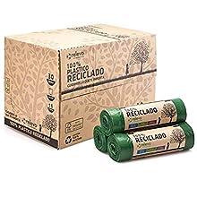 Relevo Sacs Poubelle 100% recyclés, très résistant 30L, 360 pièces