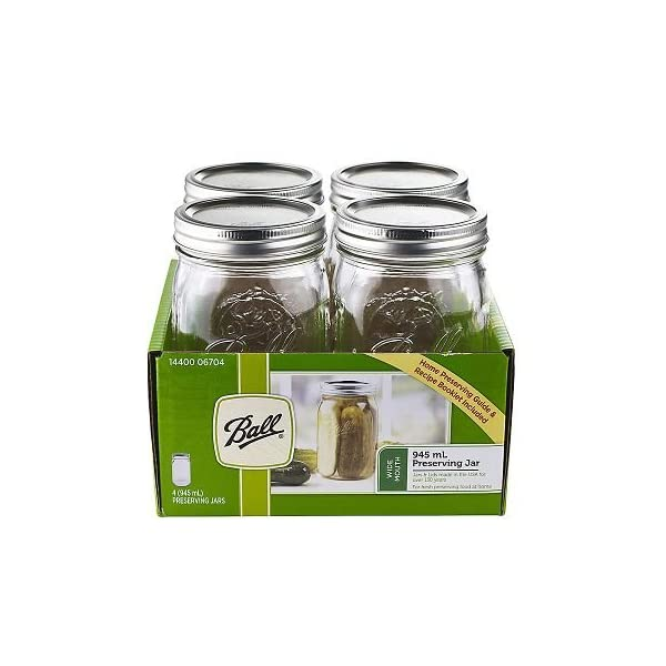 Wide Mouth Mason Preserving Jars