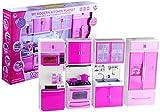 Lean Toys Spielküche Puppenküche Set Backofen Spüle Kühlschrank Geschirrspülmaschine