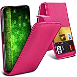 Fone-Case (Hot Pink) HTC One M9s Hülle Abdeckung Fall Clamp Style Schutz PU Leder Flip-Cover
