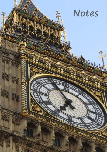 Notes - Notizheft Big Ben: London Notizbuch, DIN A5, liniert, weißes Papier