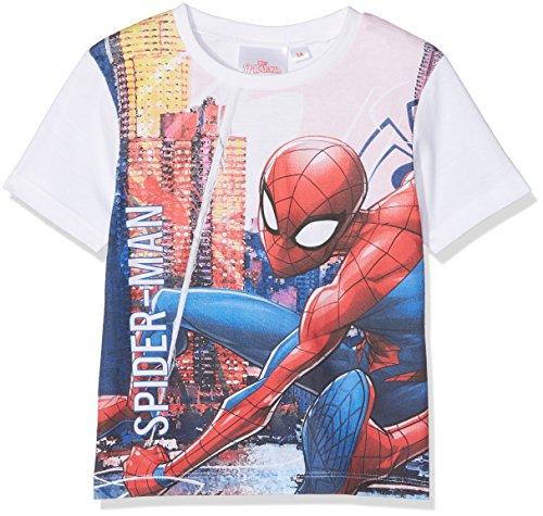 Marvel Jungen T-Shirt Spider-Man, Weiß Optic White, 8 Jahre Preisvergleich