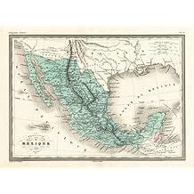 theprintscollector Antique map-mexico-central america-united states-malte-brun-sarrazin-1880