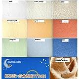 HAHN - Sábana bajera elástica para camas infantiles, 70 x 140 cm, diseño de ositos, tela, amarillo, 70 x 140 cm