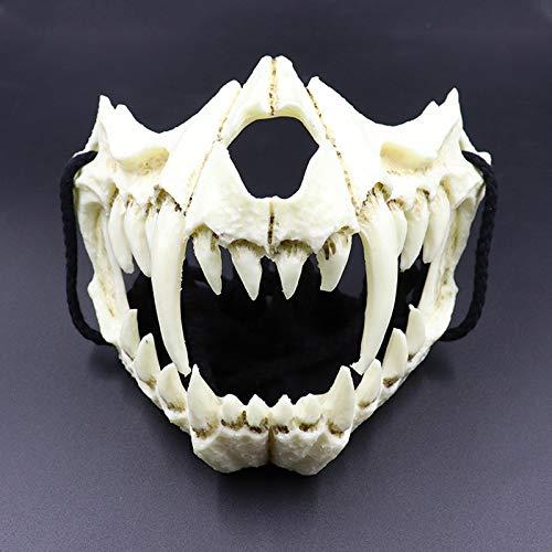 Mahhala Máscara Halloween Media Cara Adultos, máscara