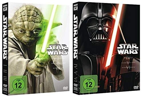 Star Wars Alle 6 Originalteile The Complete Saga I-VI (1+2+3+4+5+6) [DVD Box Set]