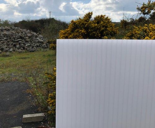 Lámina de techo de policarbonato para invernadero, toldos y mucho más. De 4 mm y 10 mm de grosor, 1050 mm de ancho