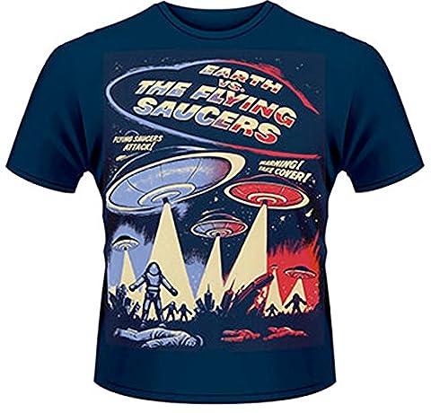 Plastic Head - Earth Vs. the Flying Saucers - T-Shirt - Homme - Bleu (Bleu) - X-Large
