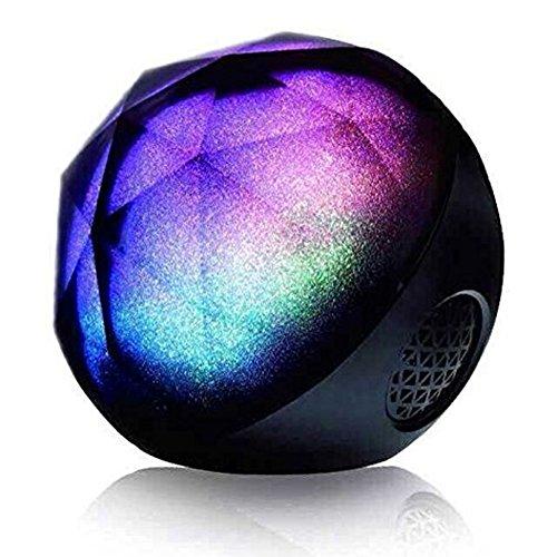 Altavoces Bluetooth,Stoga FT02 diamante + PLUS 3-en-1 inalmbrico Azuletooth altavoz porttil, inteligente estela de luz, Natural con 10 horas de batera,potente sonido con bajos mejorados, inalmbrico Control remoto negro