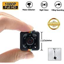 1080P mini Cam Surveillance Cámara lxmimi Portable HD Nanny Web Cam con visión nocturna y detección de movimiento para Home/Office Indoor/Outdoor Security Cámara