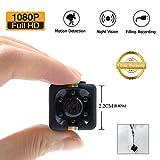 1080P Mini Cam Spy Hidden Camera LXMIMI HD Nanny Web Cam con Visione Notturna e Rilevamento di Movimento per la Sorveglianza di Sicurezza Domestica