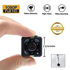 Idea Regalo - 1080P Mini Cam Spy Hidden Camera LXMIMI HD Nanny Web Cam con Visione Notturna e Rilevamento di Movimento per la Sorveglianza di Sicurezza Domestica