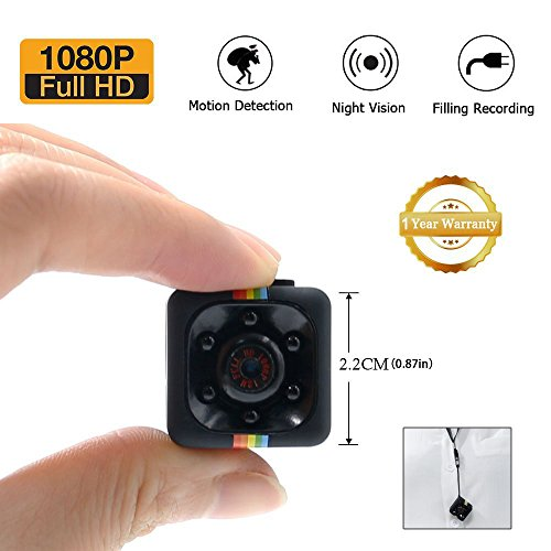 Galleria fotografica 1080P Mini Cam Spy Hidden Camera UYIKOO HD Nanny Web Cam con Visione Notturna e Rilevamento di Movimento per la Sorveglianza di Sicurezza Domestica con il Lettore di Schede