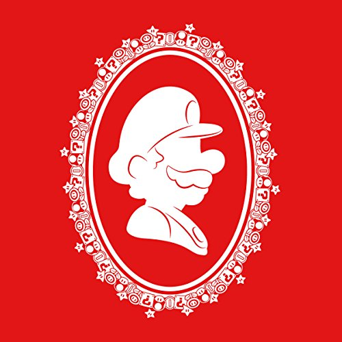 Super Mario Silhouette Men's Vest Red