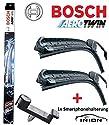 Bosch Aerotwin Scheibenwischer Wischblatt Satz Nachrüstungsset AR653S, 3397118911 + Inion Händyhalterung für Lüftungsgitter
