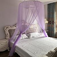Kreisförmige Baldachin Moskitonetz Für Bett Sicheren Schlaf Insektenschutz  Zelt Portable Lila 180x200cm(71x79inch)
