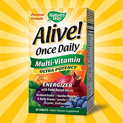 Natures WayWay, Alive!, Once Daily, Multi-Vitamin, 60 Tablets