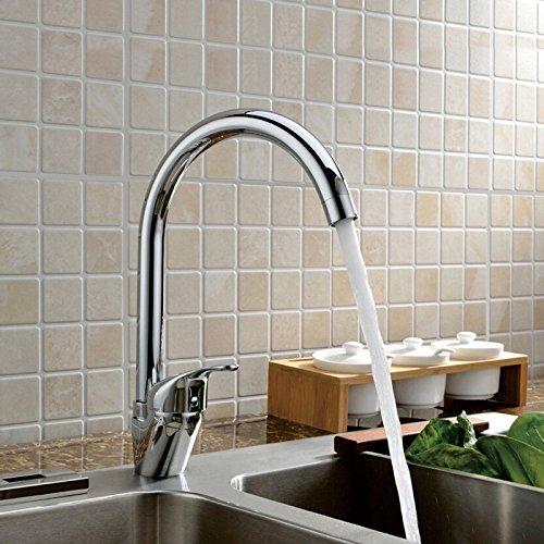5151buyworld Top Qualität Wasserhahn Bargain Verkauf Edelstahl verchromt Single Griff Single Loch Badezimmer, Mischer für das Badezimmer für Küche Home Gaden (begriffsklärung), 1,