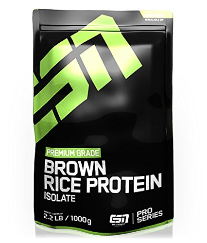 #ESN Brown Rice Protein Isolate, Pro Series, Hazelnut, 1er Pack (1 x 1000g Beutel)#