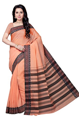 Rani Saahiba Poly Cotton Solid Saree (SKR4001_Orange)