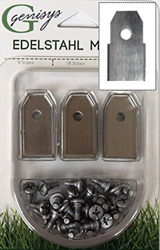 30x Ersatz Messer Klingen für Yardforce Mähroboter (Neue Form HQ 2018 | longlife | 0,60 mm) + 30x ELOX Schrauben [DIN EN 50636 geprüft]