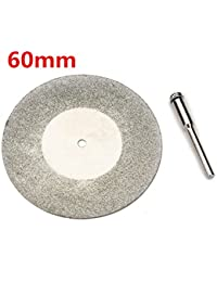 HITSAN INCORPORATION 60mm Diamond Grinding Wheel Metal Cutting Disc For Dremel Rotary Tool With 1 Arbor Shaft