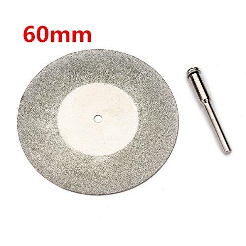 EsportsMJJ 60 Mm Diamond Grinding Wheel Metall Cutting Disc Für Dremel Rotary Tool Mit 1 Arbor Shaft -