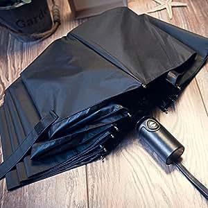 KHSKX 10 bone 30 per cento volte il ripiegamento automatico uomini di business e creative resistente al vento di vinile rinforzato ombra ombrelloni,manico in cuoio nero