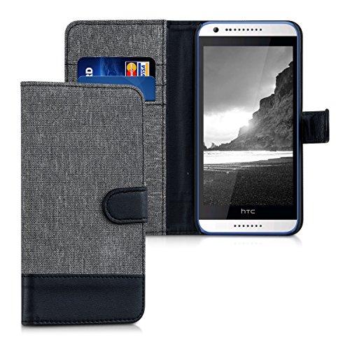 kwmobile HTC Desire 620G Hülle - Kunstleder Wallet Case für HTC Desire 620G mit Kartenfächern und Stand