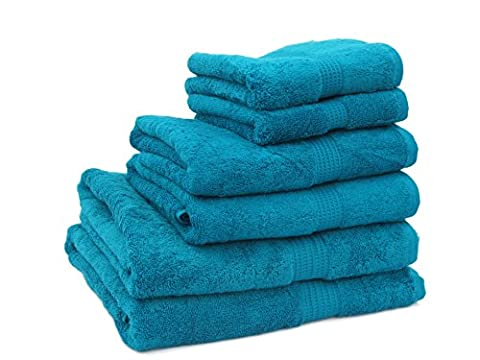 Supersoft 600gsm 100% Pure Egyptian Cotton Towel (Flannel(30x30cm), Jade)