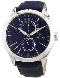 Festina Herren-Armbanduhr Analog Quarz Leder F16573-7