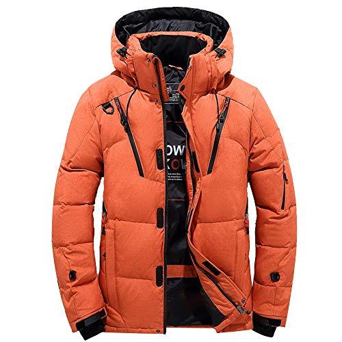 KPILP Daunenjacke, Männer Jungen Windbreaker Lässige Dicke Warme Kapuze Reißverschluss Mantel Outwear Jacke Tops Bluse...