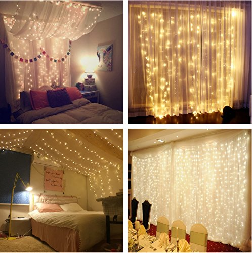 Window Curtain String Lights,300...