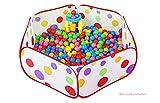 Demarkt Kinder Spielzelt Ballpool Pool Bällepool Bällebad Pop up, Ball nicht enthalten (90X40X28cm)