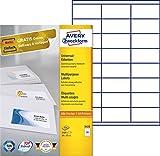 Avery Zweckform 3422 Adressetiketten (A4, Papier matt, 2,400 Etiketten, 70 x 35 mm) 100 Blatt weiß