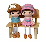 Jiada Cute Couple Sitting On Bench | Valentine Gift| Home Decor Showpiece