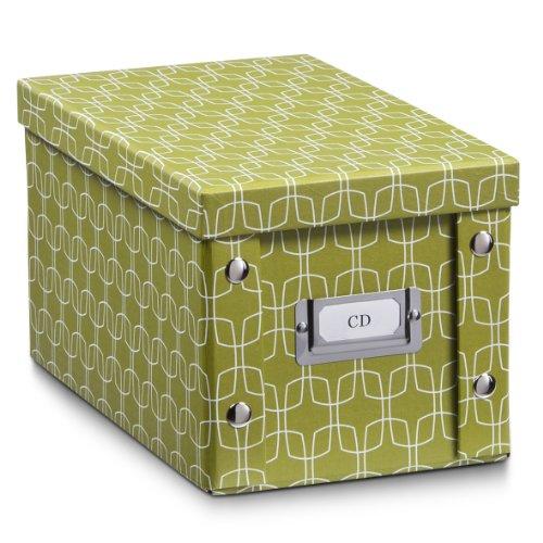"""Zeller 17695 CD-Box""""Texture"""", Pappe, L 16.5 x B 28 x H 15 cm, pistazie"""