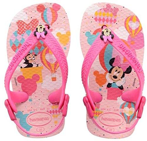 Havaianas Mickey Minnie Sandali senza Tacco per Bambini, Colore Rosa (Crystal Rose 1141), Taglia 22 EU (Taglia Produttore: 20)