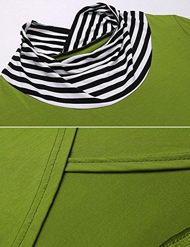 Shmily Girl Damen Bluse Frühling Herbst Casual T-Shirt Langärm Top Grün