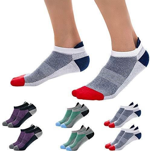 Okany Sportsocken Herren Damen Sneaker Socken Größe 37-47 Baumwolle Knöchel Laufsocken 6/8 Paar -