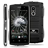 ZOJI Z6 3G Smartphone Ohne Vertrag (Android 6.0, IP68 Wasserdicht Outdoor Handy, 1GB Ram+8GB Rom, Dual-SIM Quad-Core, 4,7 Zoll Touch-Display, Dual Kamera, Fingerabdruck GPS ) - Schwarz