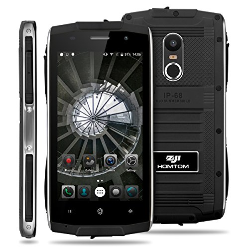 ZOJI Z6 3G Smartphone Ohne Vertrag (Android 6.0, IP68 Wasserdicht Outdoor Handy, 1GB Ram+8GB Rom, Dual-SIM Quad-Core, 4,7 Zoll Touch-Display, Dual Kamera, Fingerabdruck GPS ) – Schwarz