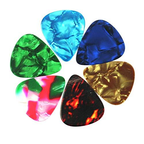 144 X Akustische elektrische Bulk-Plektren Plektrum Verschiedene Farben Gemischte Größe Nützlich und praktisch Carry stone (Nagelfeilen Bulk)