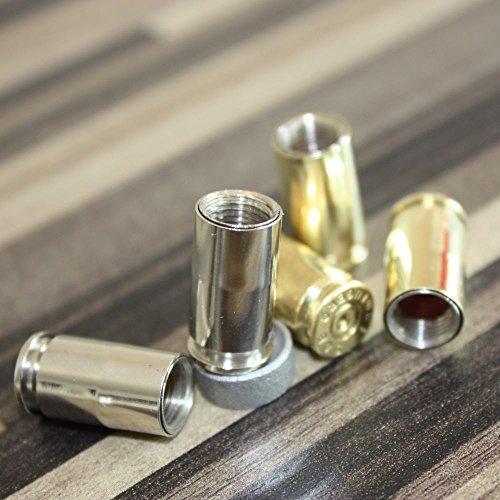 2-tappi-valvola-customize-design-calibro-9-mm-chrome-vintage-proiettile-caps-nichelato-2-pezzi